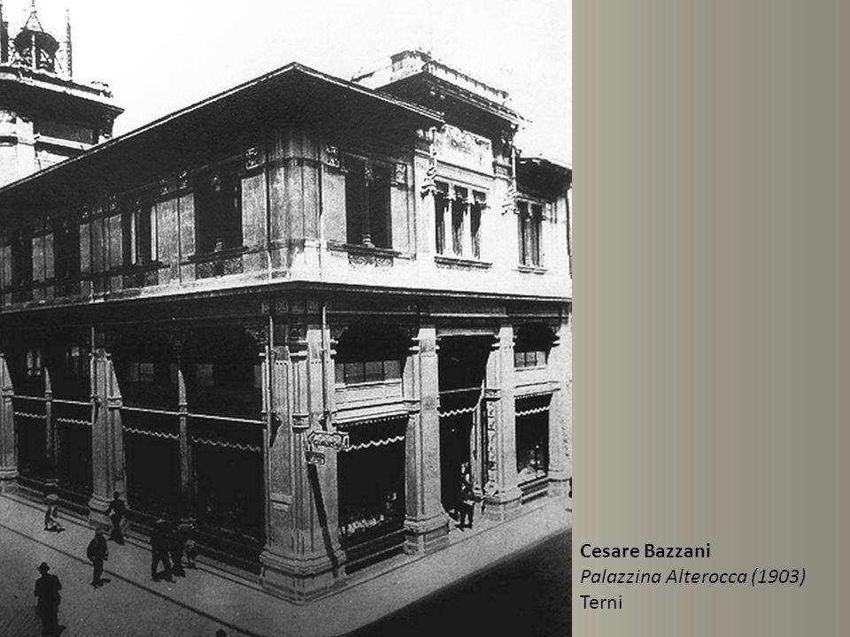 Cesare Bazzani Palazzina Alterocca (1903) Terni