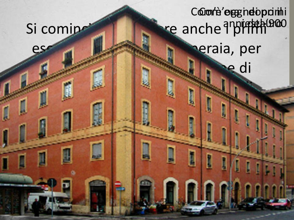 Si cominciano a vedere anche i primi esempi di architettura operaia, per accogliere con la costruzione di edifici destinati ad alloggi per gli operai.