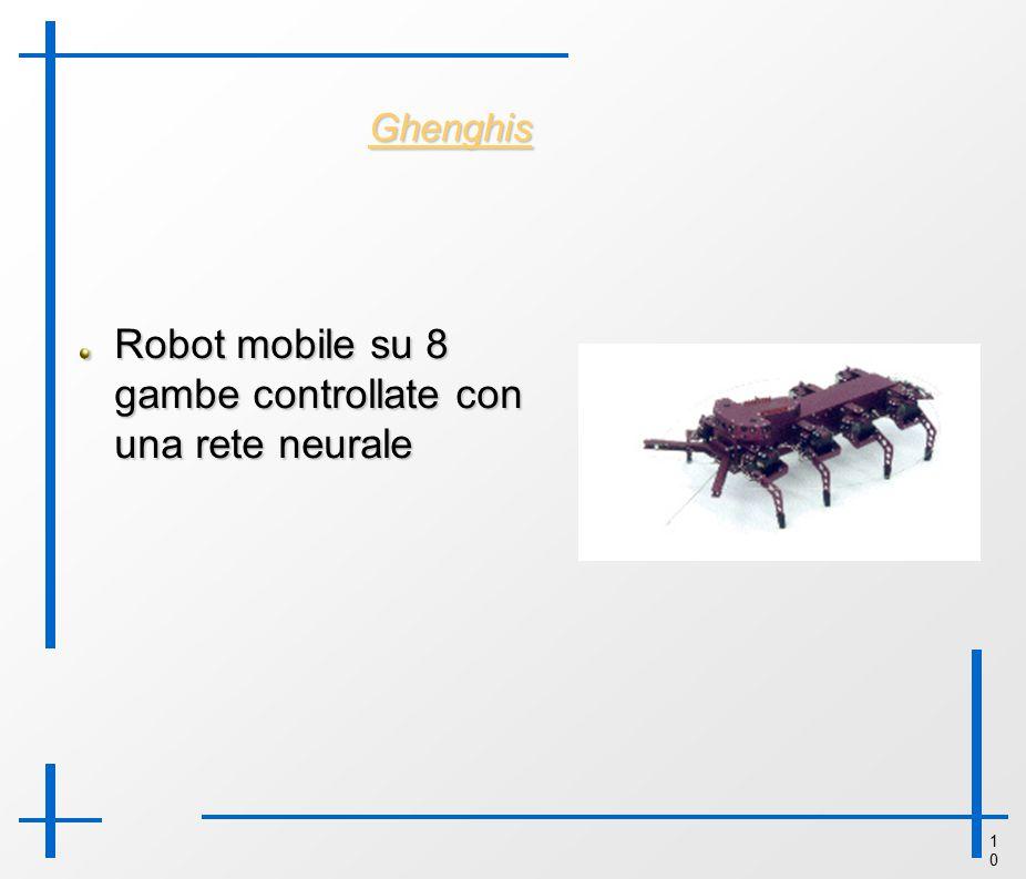 1010 Ghenghis Robot mobile su 8 gambe controllate con una rete neurale