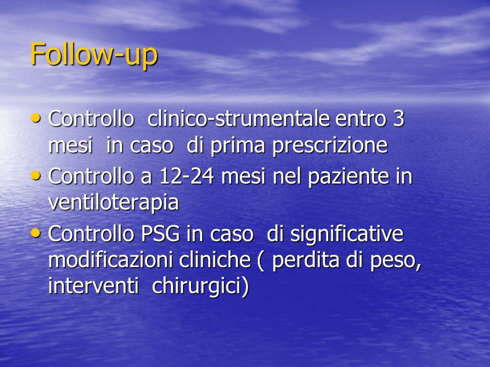 Follow-up Controllo clinico-strumentale entro 3 mesi in caso di prima prescrizione Controllo clinico-strumentale entro 3 mesi in caso di prima prescri