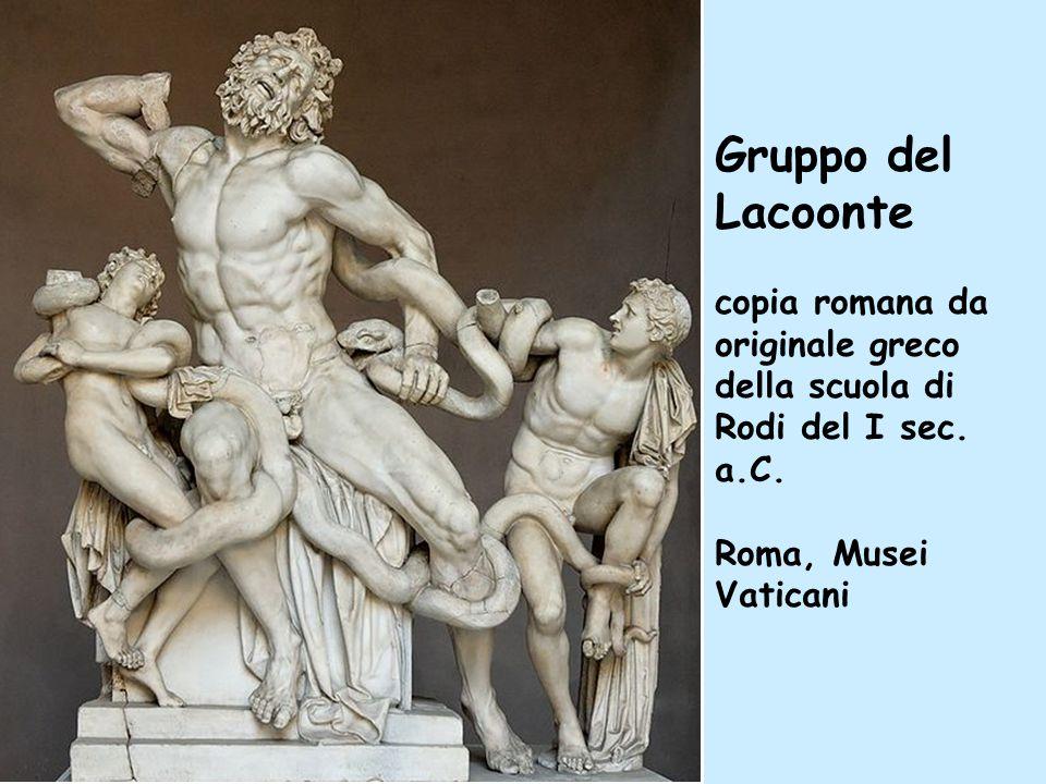 Gruppo del Lacoonte copia romana da originale greco della scuola di Rodi del I sec. a.C. Roma, Musei Vaticani