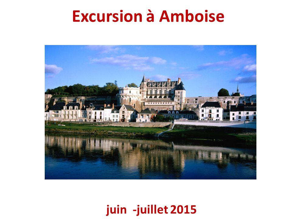 Excursion à Amboise juin -juillet 2015