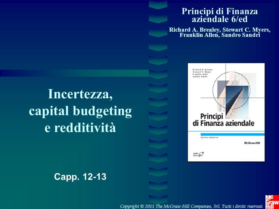 1- 12 Copyright © 2007 The McGraw-Hill Companies, SrlPrincipi di Finanza aziendale 5/ed – Brealey, Myers, Allen,Sandri Leva operativa Maggiore quota costi fissi (19 vs.