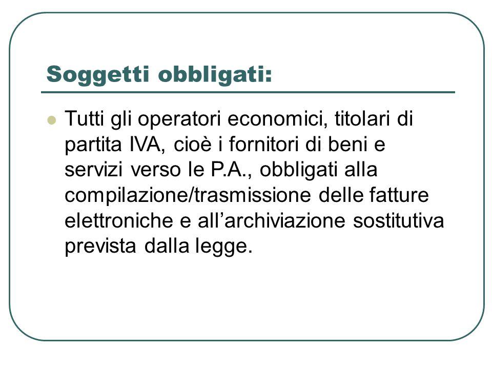 Soggetti obbligati – Prestazioni professionali (Art.