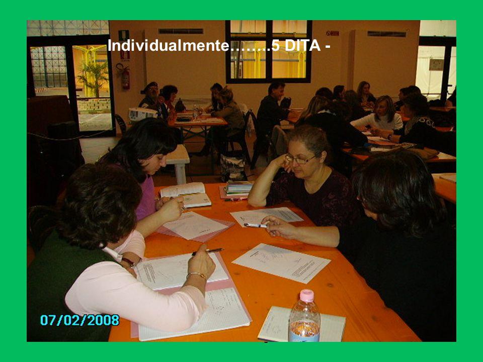daniela sartore- ostiglia 2008 Individualmente……..5 DITA -