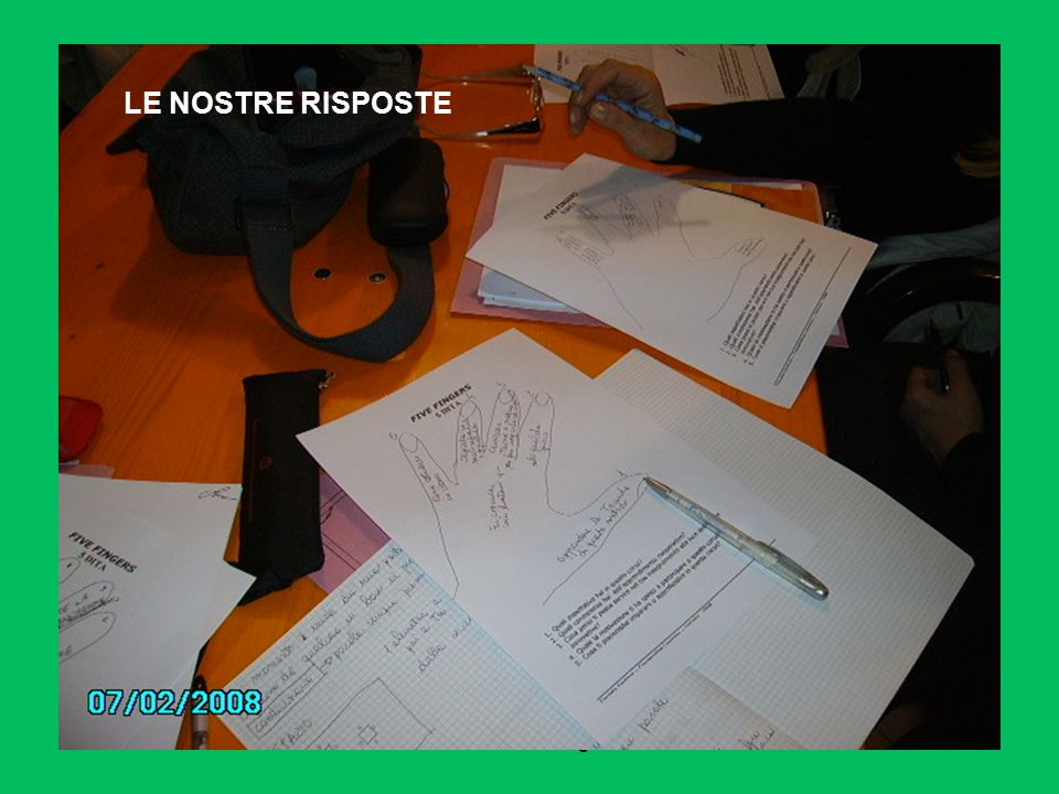 daniela sartore- ostiglia 2008 LE NOSTRE RISPOSTE