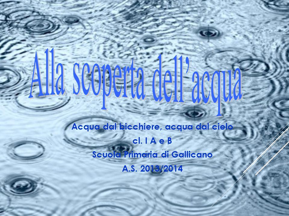 Acqua dal bicchiere, acqua dal cielo cl. I A e B Scuola Primaria di Gallicano A.S. 2013/2014