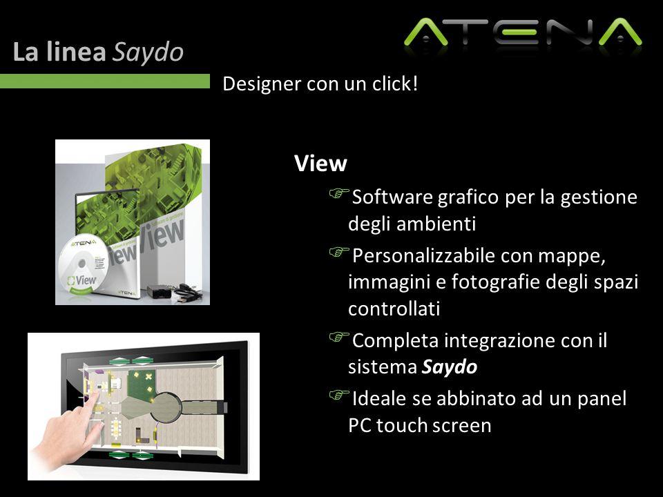 La linea Saydo Designer con un click! View  Software grafico per la gestione degli ambienti  Personalizzabile con mappe, immagini e fotografie degli