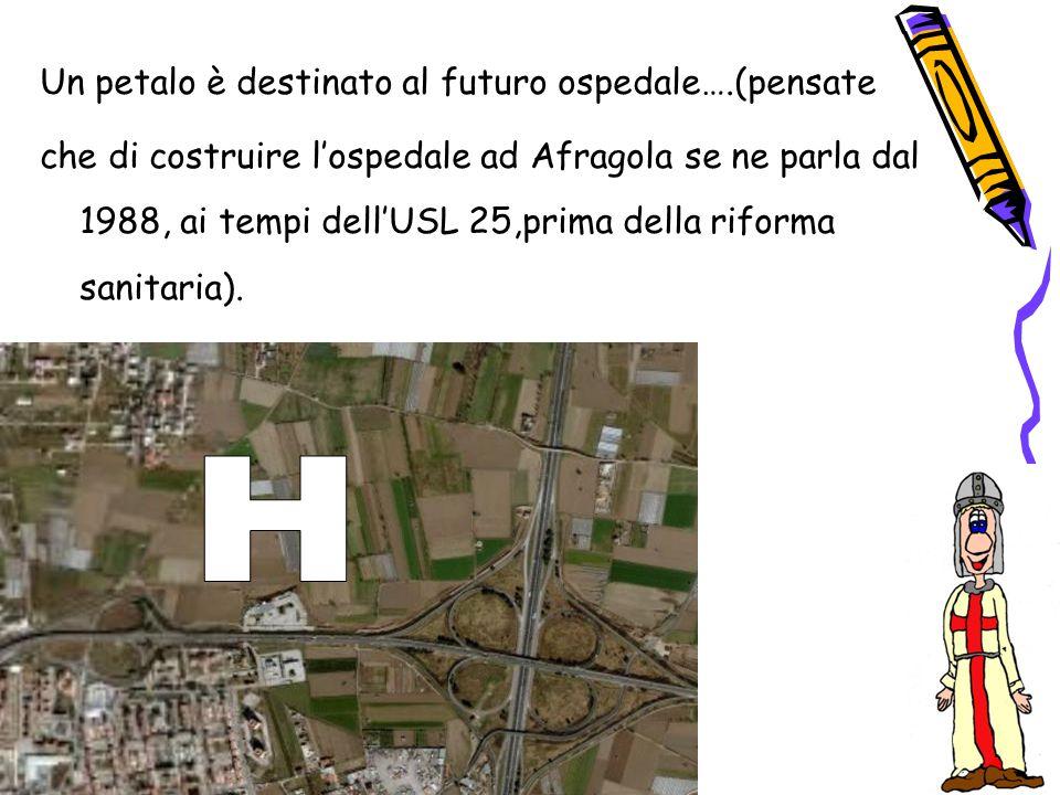 Un petalo è destinato al futuro ospedale….(pensate che di costruire l'ospedale ad Afragola se ne parla dal 1988, ai tempi dell'USL 25,prima della rifo