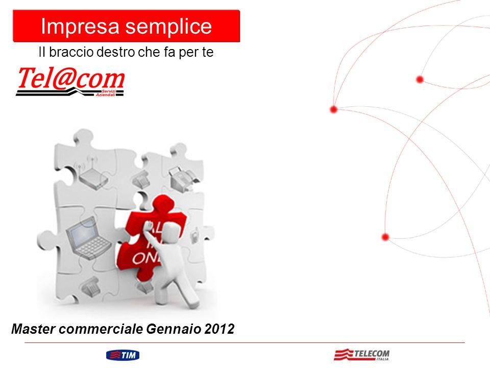 GRUPPO TELECOM ITALIA Impresa semplice Master commerciale Gennaio 2012 Il braccio destro che fa per te