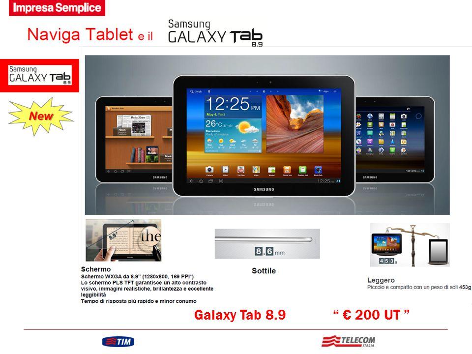"GRUPPO TELECOM ITALIA Galaxy Tab 8.9 "" € 200 UT """
