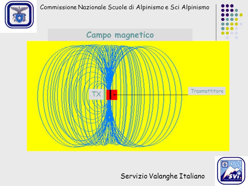 Commissione Nazionale Scuole di Alpinismo e Sci Alpinismo Servizio Valanghe Italiano Campo magnetico Trasmettitore TX