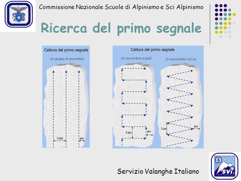 Commissione Nazionale Scuole di Alpinismo e Sci Alpinismo Servizio Valanghe Italiano Ricerca del primo segnale