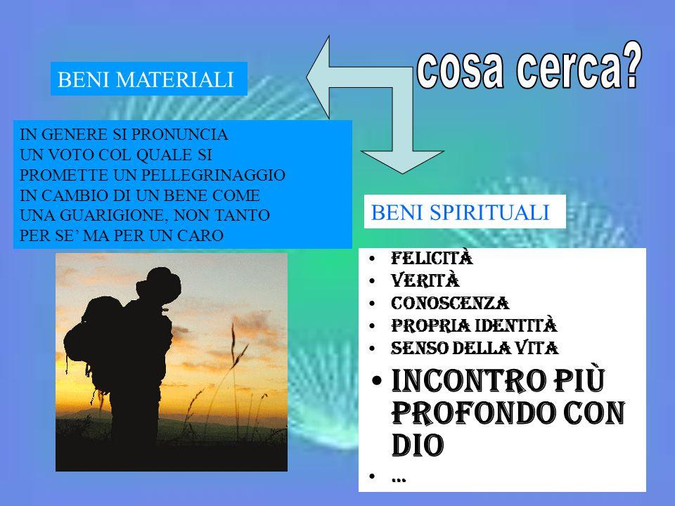 Felicità Verità Conoscenza Propria identità Senso della vita INCONTRO Più PROFONDO CON Dio … BENI MATERIALI BENI SPIRITUALI IN GENERE SI PRONUNCIA UN