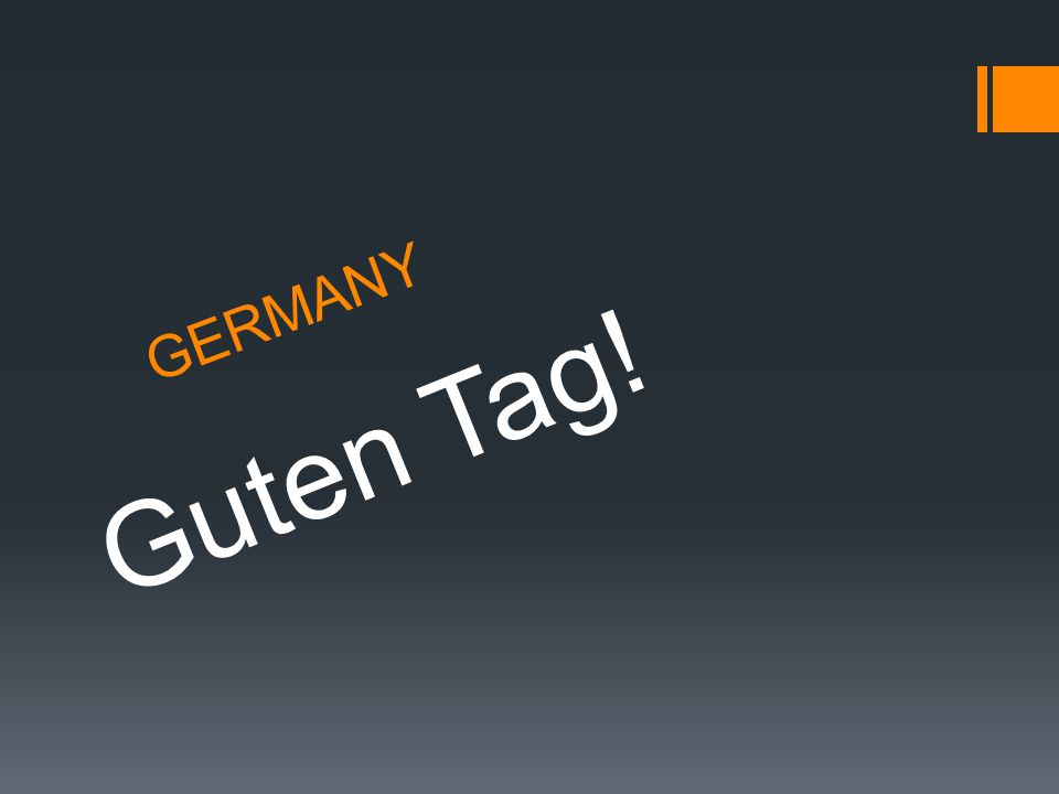 GERMANY Guten Tag!