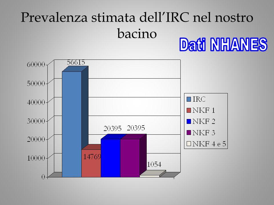Prevalenza stimata dell'IRC nel nostro bacino