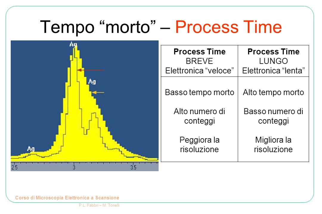 """Tempo """"morto"""" – Process Time Corso di Microscopia Elettronica a Scansione P.L. Fabbri – M. Tonelli Process Time BREVE Elettronica """"veloce"""" Process Tim"""