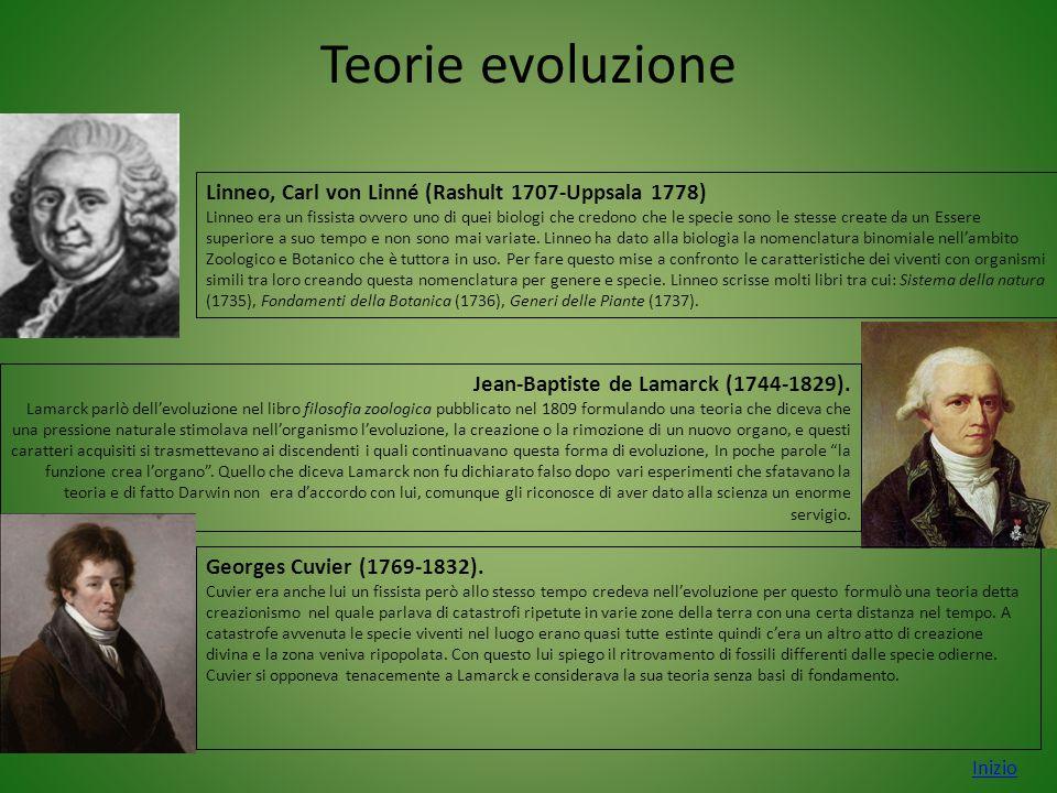 Teorie evoluzione Inizio Jean-Baptiste de Lamarck (1744-1829). Lamarck parlò dell'evoluzione nel libro filosofia zoologica pubblicato nel 1809 formula
