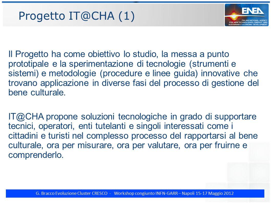 G. Bracco Evoluzione Cluster CRESCO - Workshop congiunto INFN-GARR – Napoli 15-17 Maggio 2012 Progetto IT@CHA (1) Il Progetto ha come obiettivo lo stu