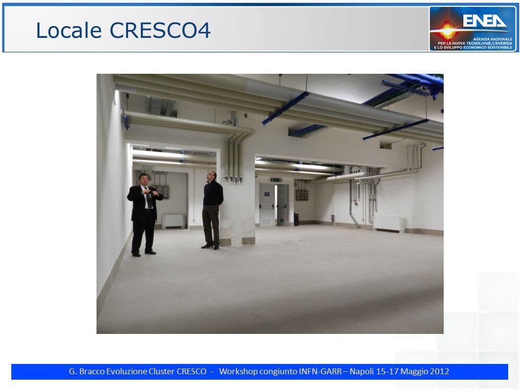 G. Bracco Evoluzione Cluster CRESCO - Workshop congiunto INFN-GARR – Napoli 15-17 Maggio 2012 ENE Locale CRESCO4