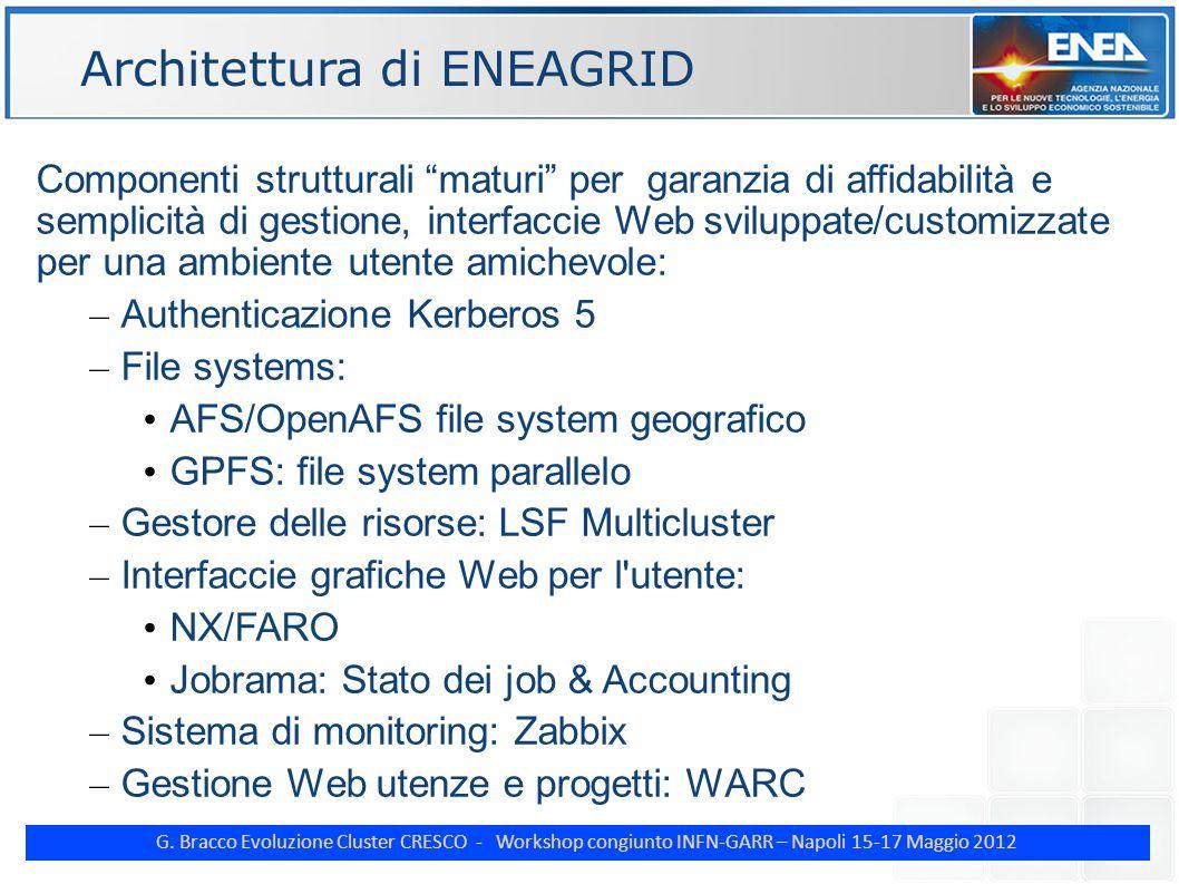 "G. Bracco Evoluzione Cluster CRESCO - Workshop congiunto INFN-GARR – Napoli 15-17 Maggio 2012 ENE Componenti strutturali ""maturi"" per garanzia di affi"