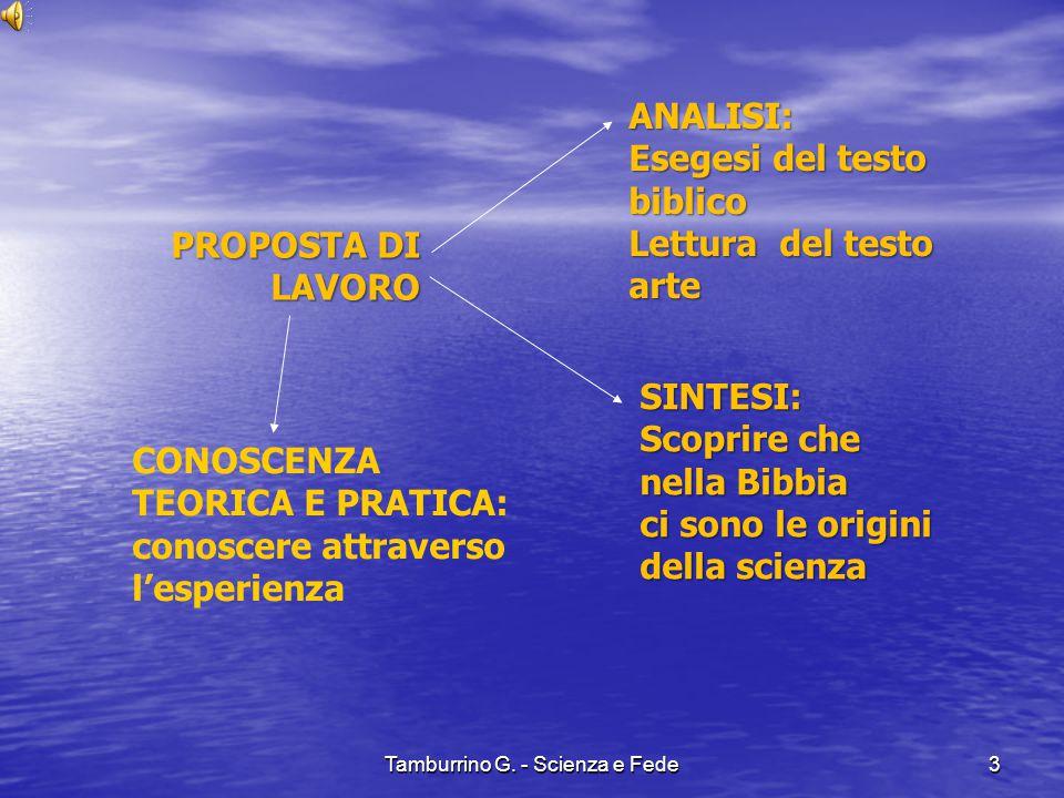 Separazione della terra dalle acque Tamburrino G. - Scienza e Fede14