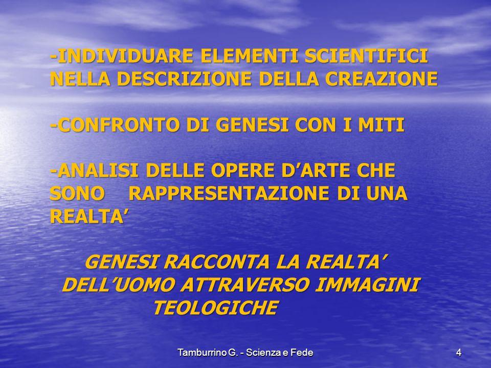 Creazione delle acque Tamburrino G. - Scienza e Fede15