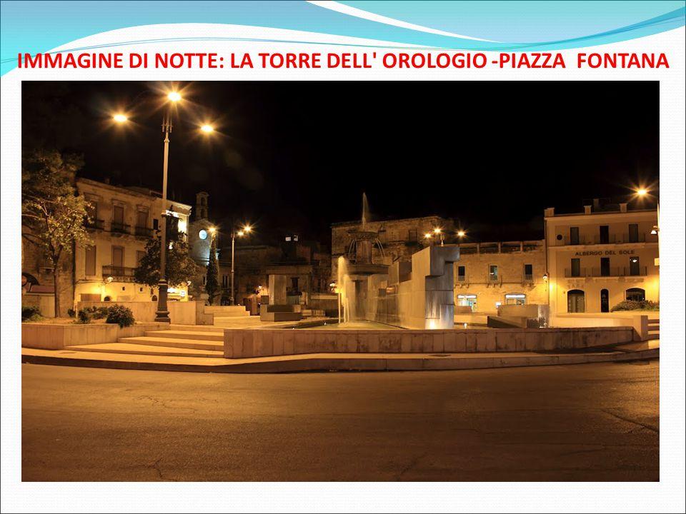 IMMAGINE DI NOTTE: LA TORRE DELL' OROLOGIO -PIAZZA FONTANA
