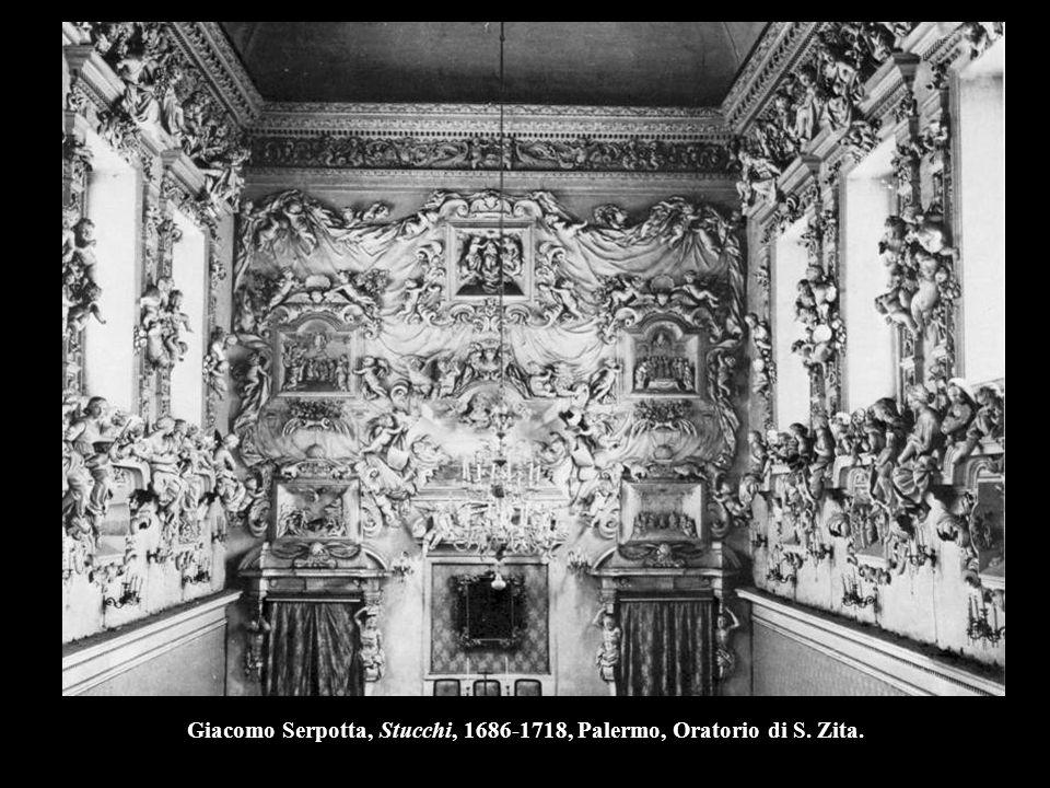 Giacomo Serpotta, Stucchi, 1686-1718, Palermo, Oratorio di S. Zita.
