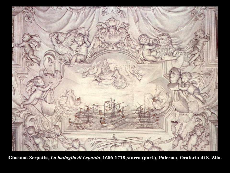 Giacomo Serpotta, La battaglia di Lepanto, 1686-1718, stucco (part.), Palermo, Oratorio di S. Zita.