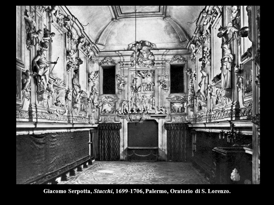 Giacomo Serpotta, Stucchi, 1699-1706, Palermo, Oratorio di S. Lorenzo.