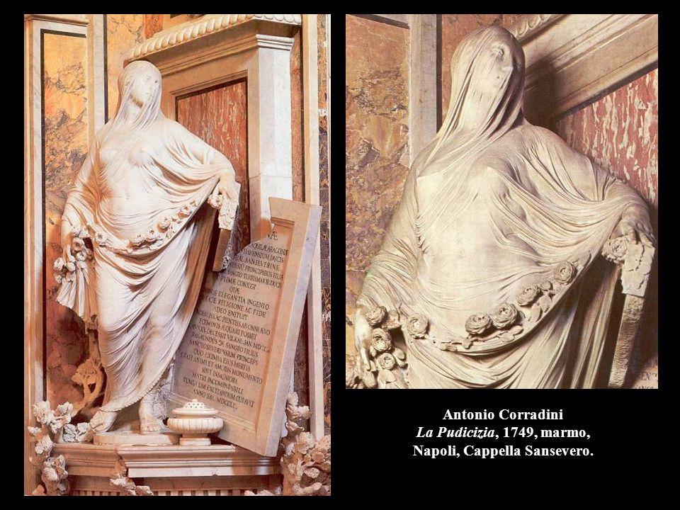 Antonio Corradini La Pudicizia, 1749, marmo, Napoli, Cappella Sansevero.