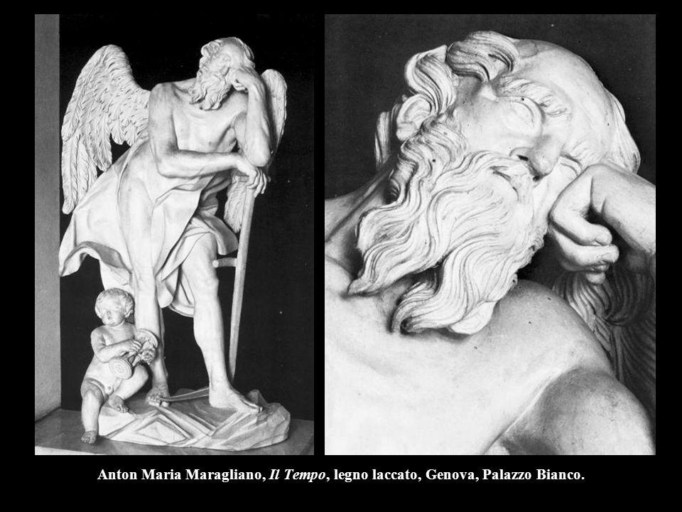 Anton Maria Maragliano, Il Tempo, legno laccato, Genova, Palazzo Bianco.