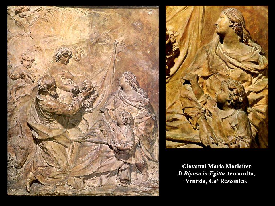 Giovanni Maria Morlaiter Il Riposo in Egitto, terracotta, Venezia, Ca' Rezzonico.