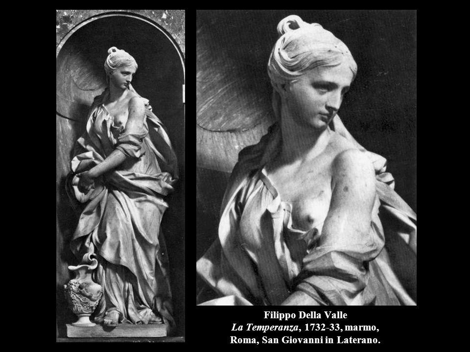 Filippo Della Valle La Temperanza, 1732-33, marmo, Roma, San Giovanni in Laterano.