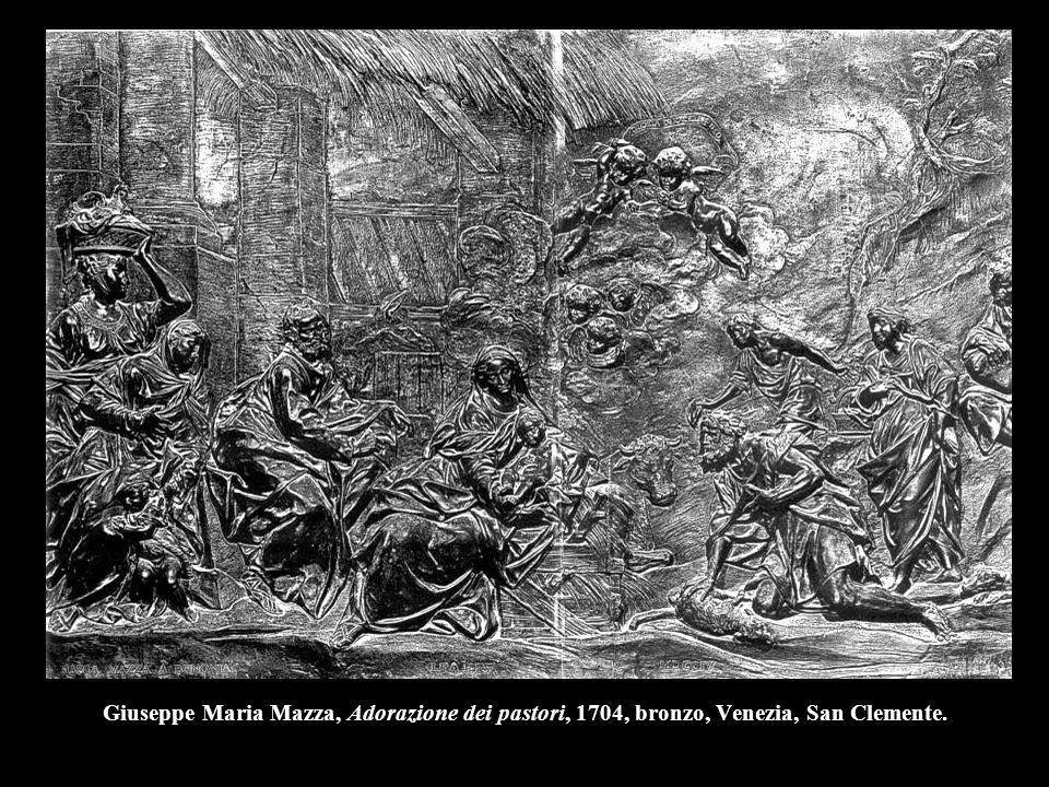 Giuseppe Maria Mazza, Adorazione dei pastori, 1704, bronzo, Venezia, San Clemente.