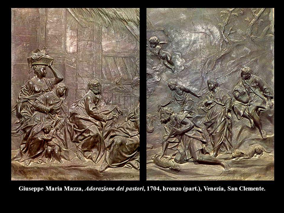Giuseppe Maria Mazza, Adorazione dei pastori, 1704, bronzo (part.), Venezia, San Clemente.