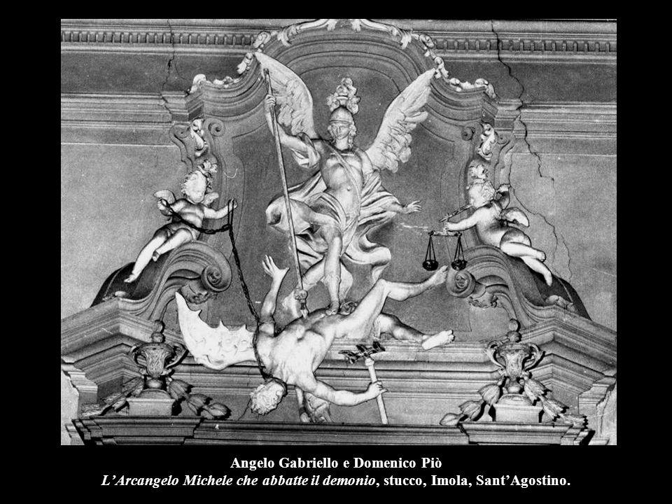 Angelo Gabriello e Domenico Piò L'Arcangelo Michele che abbatte il demonio, stucco, Imola, Sant'Agostino.