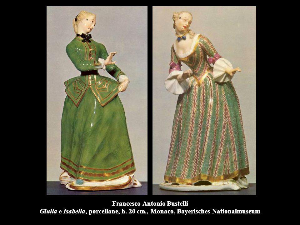 Francesco Antonio Bustelli Giulia e Isabella, porcellane, h.