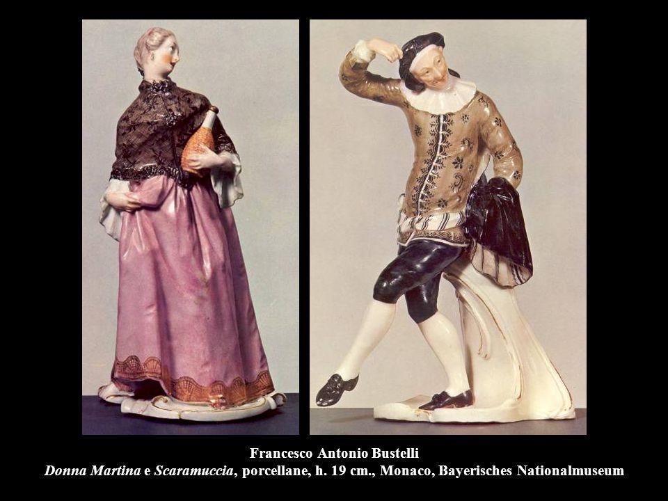 Francesco Antonio Bustelli Donna Martina e Scaramuccia, porcellane, h.