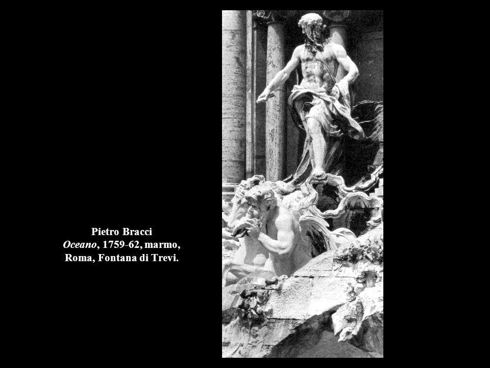 Pietro Bracci Oceano, 1759-62, marmo, Roma, Fontana di Trevi.