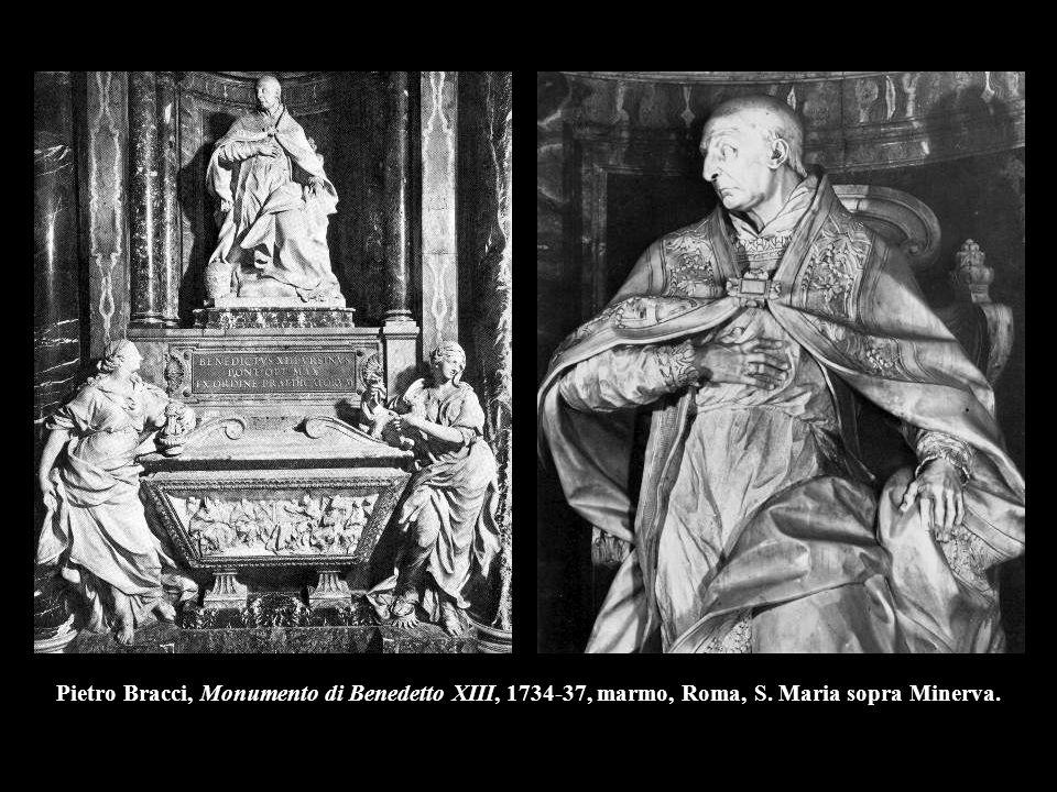 Pietro Bracci, Monumento di Benedetto XIII, 1734-37, marmo, Roma, S. Maria sopra Minerva.