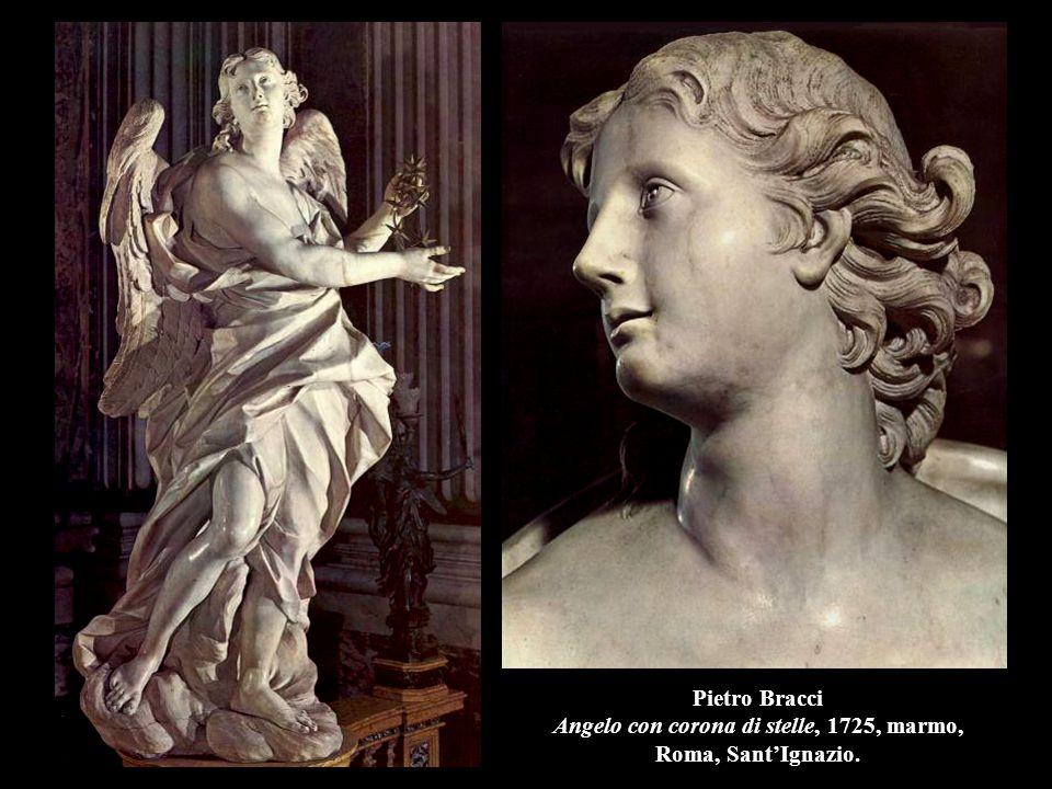 Pietro Bracci Angelo con corona di stelle, 1725, marmo, Roma, Sant'Ignazio.
