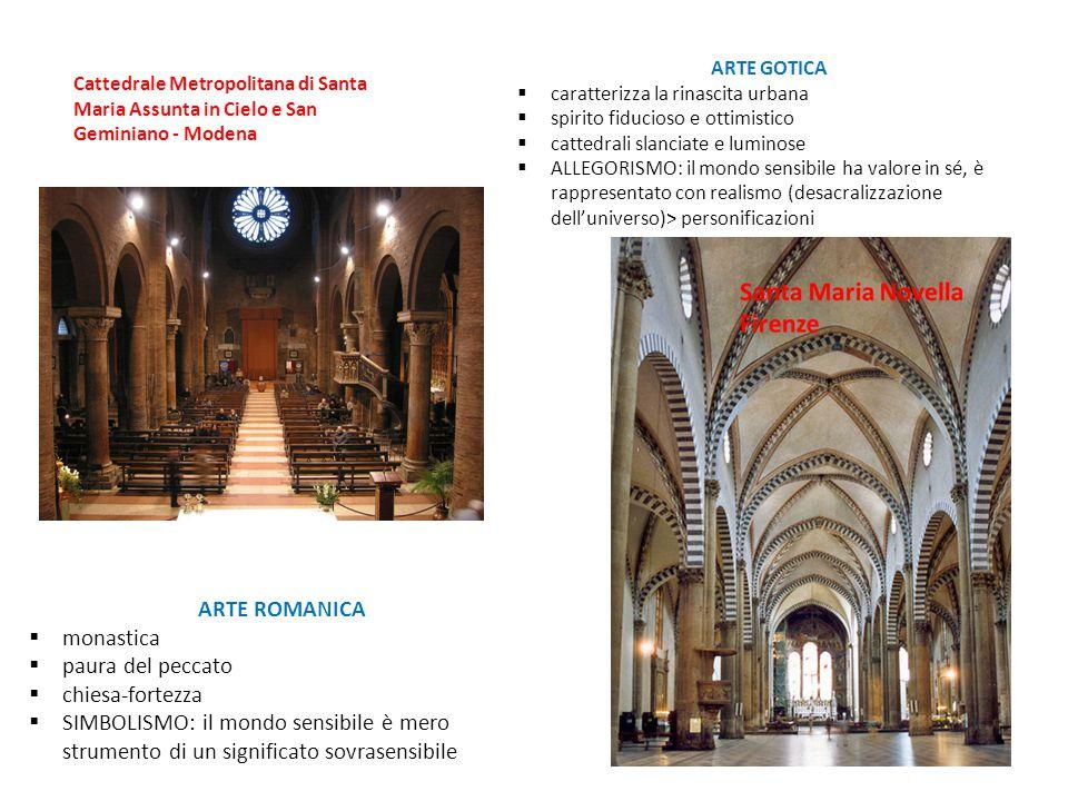 ARTE ROMANICA  monastica  paura del peccato  chiesa-fortezza  SIMBOLISMO: il mondo sensibile è mero strumento di un significato sovrasensibile ART