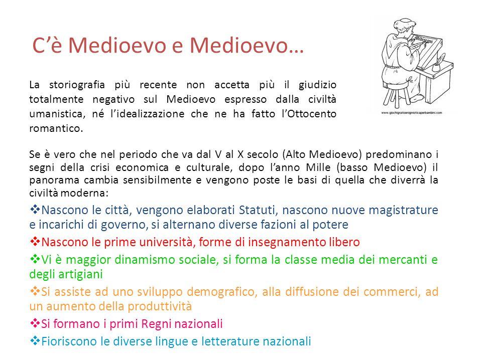 C'è Medioevo e Medioevo… Se è vero che nel periodo che va dal V al X secolo (Alto Medioevo) predominano i segni della crisi economica e culturale, dop