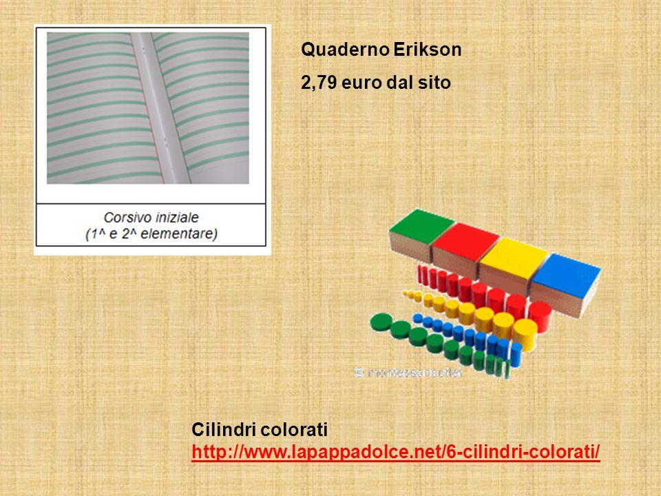 Quaderno Erikson 2,79 euro dal sito Cilindri colorati http://www.lapappadolce.net/6-cilindri-colorati/