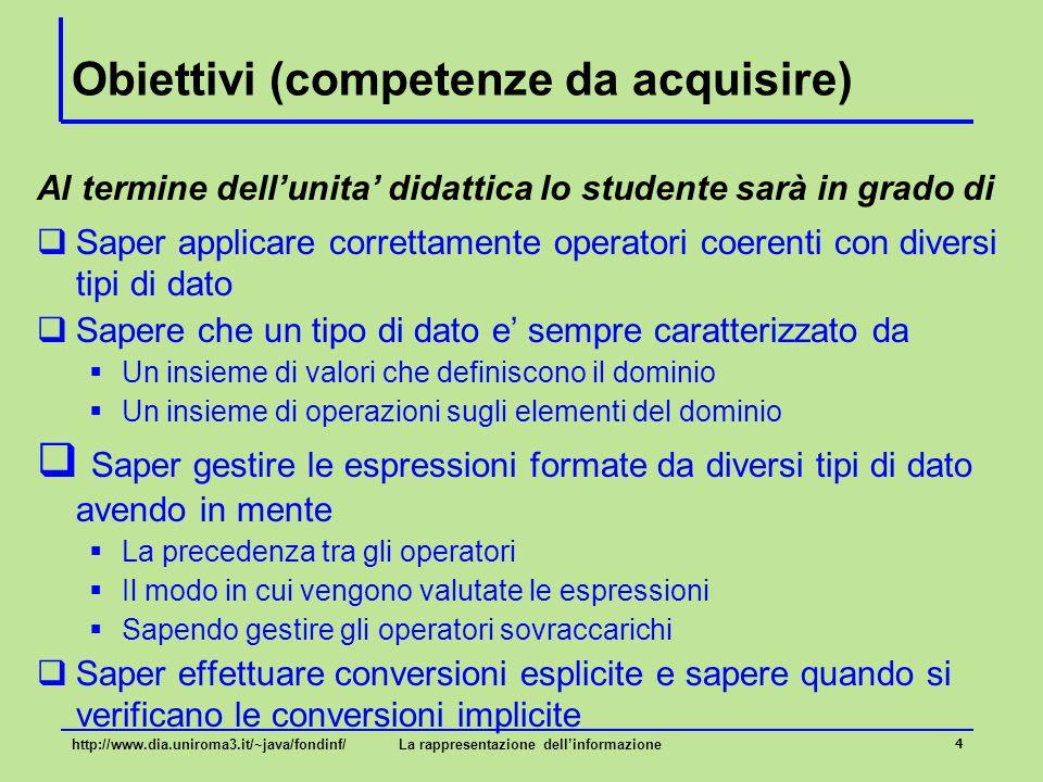 Tipi ed espressioni 5 Introduzione...
