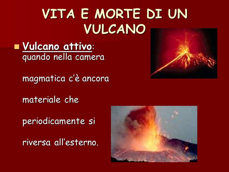 VITA E MORTE DI UN VULCANO Vulcano quiescente : Vulcano quiescente : quando rimane per quando rimane per un lungo periodo a un lungo periodo a riposo.