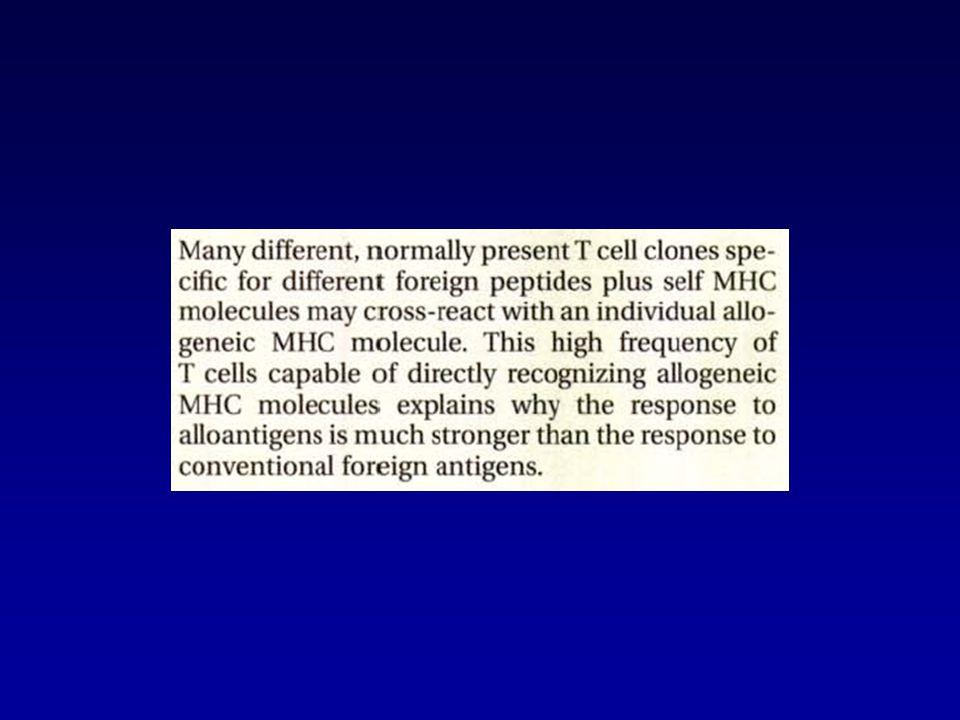 Variabili determinanti la sopravvivenza dell'organo trapiantato Compatibilità antigenica (HLA) donatore - ricevente Entità della risposta immunologica del ricevente verso il donatore Trattamento immunosoppressivo Condizioni dell'allotrapianto