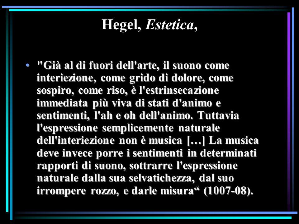 Hegel, Estetica,